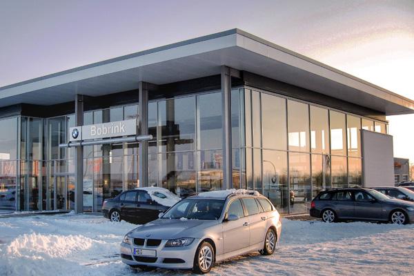 Gewerbebau Autohaus BMW Bobrink betriebsfertig, wirtschaftlich, zukunftsorientiert